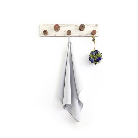 Silver Grey Tea Towel made of softened linen  More colors in