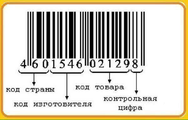 Как читать коды на товарах.