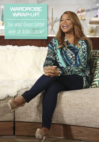 Loving this teal look! So gorgeous! // Queen Latifah's Wardrobe 12.11.13