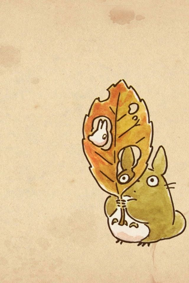 Little Totoros! <3 // This was my phone's wallpaper last autumn.
