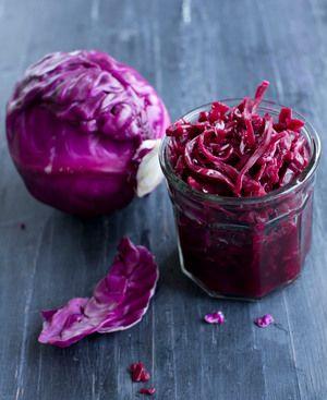 Oppskrift-på-melkesyregjæret-fermentert-rødkål