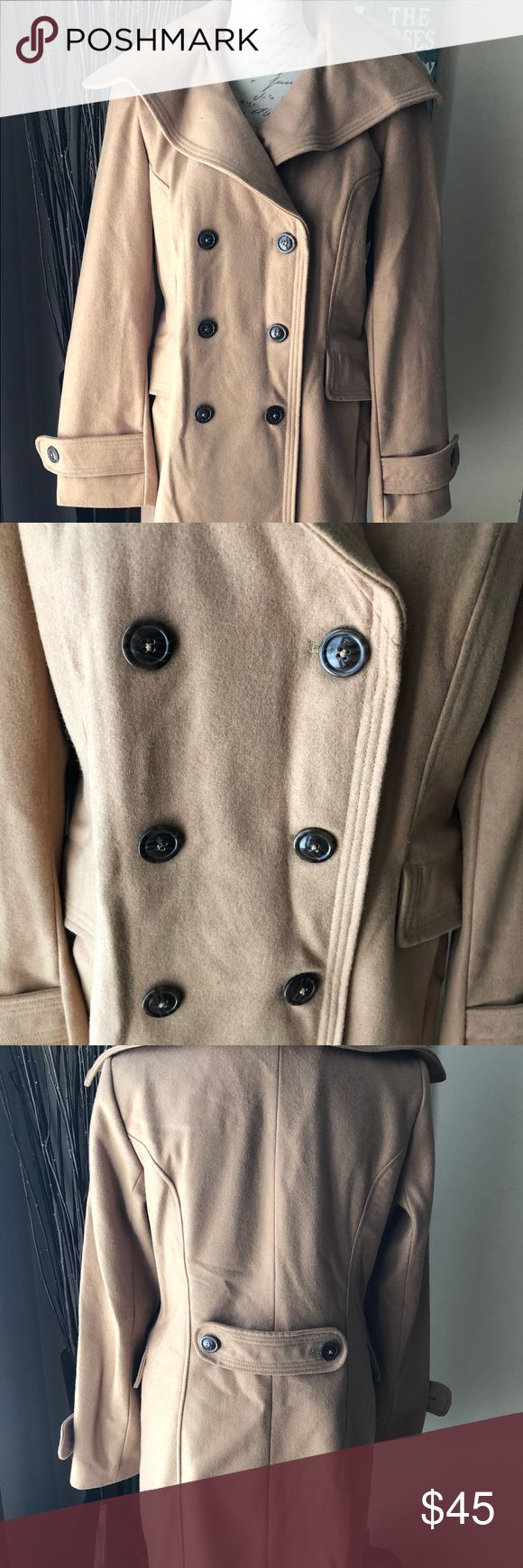 NWOT Stylish Anne Klein Wool Coat Constantly Classy and Chic, this camel colored wool winter coat will never go out of style. Featuring a high collar, two rows of buttons in the front, decorative buttons on the cuffs, and a belted buttoned lapel in the back this coat will not disappoint and can be worn to any occasion. Dress her up or down and she will become your go to coat. Priced to sell, will steam iron prior to shipping, all reasonable offers accepted. No low ballers please…