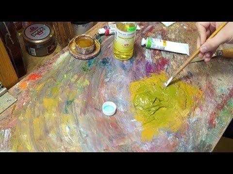 Краски своими руками. Технические советы в масляной живописи - YouTube