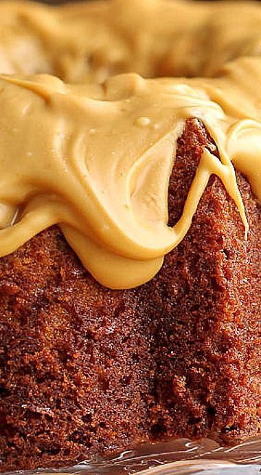 Butterscotch Pecan Bundt Cake with Salted Caramelized White Chocolate Glaze❊