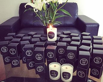 Personalised Soy Candle Wedding Favours                                                                                                                                                                                 More