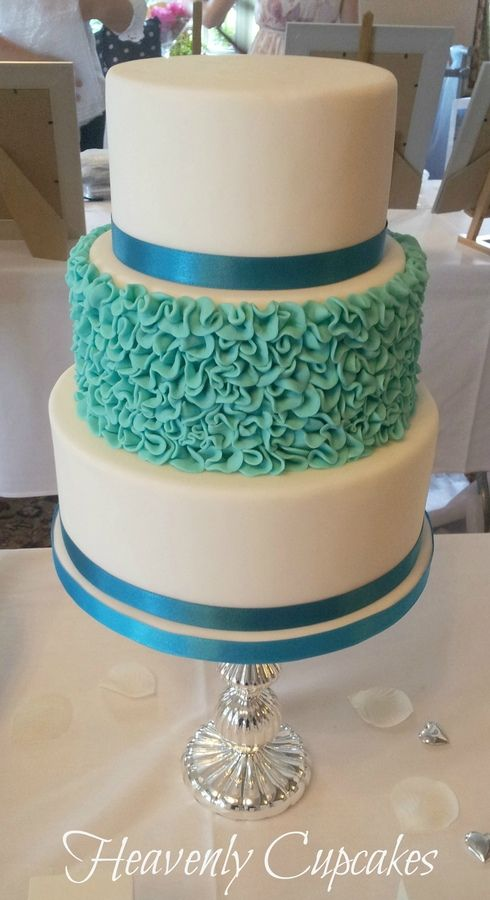 turquoise wedding cake images galleries with a bite. Black Bedroom Furniture Sets. Home Design Ideas