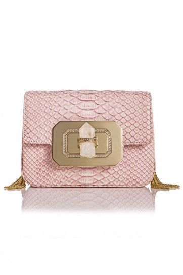 Pochette stampa rettile rosa cipria - collezione primavera/estate 2014 di #Marchesa. #bags #bag