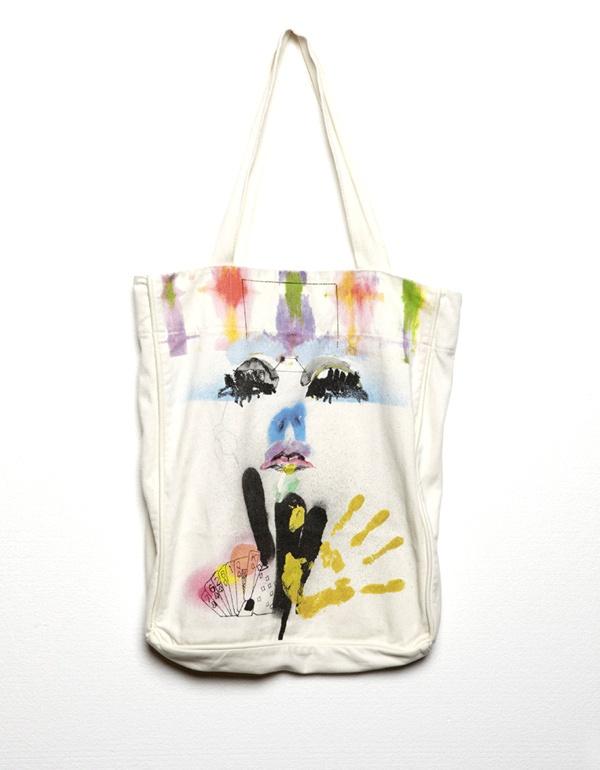JV Face Tote Bag from Something Else - Tote Bag designed by Julie Verhoeven for Something Else Spring 'Outlaw' 2012 range $99