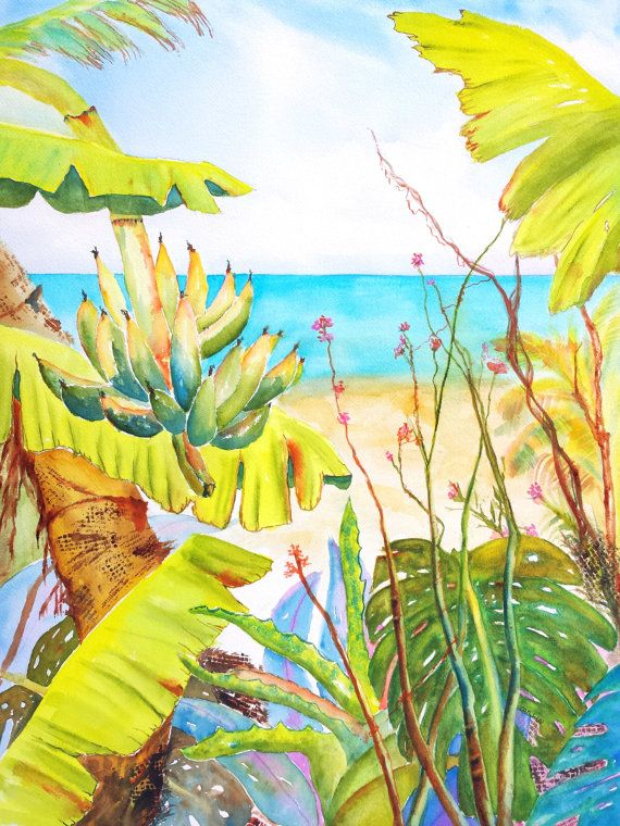 Images Of Paintings On Palm Fronds
