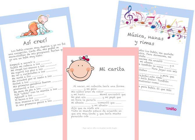 Diario del primer año del bebé para imprimir - Juegos para bebés - Juegos y fiestas - Guia del Niño