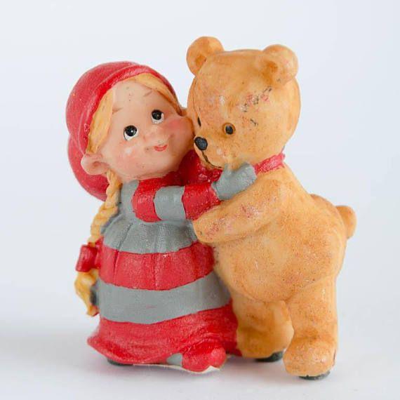 Christmas Elf Gnome with Teddy Bear  Swedish Norwegian