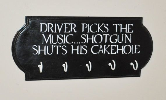 """Supernatural Quote Key Holder with (5) C-Hooks (2) hooks on the back for hanging - Handmade item - Materials: Pine Wood, Paint, Vinyl - COLORS: - Shown in Black with White Text SIZE:- 6"""" x 14""""x 2"""" - M"""