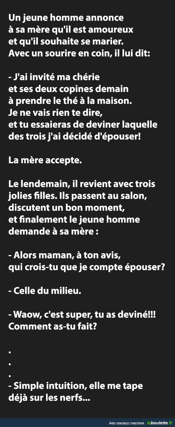 l'intuition féminine !! MDR
