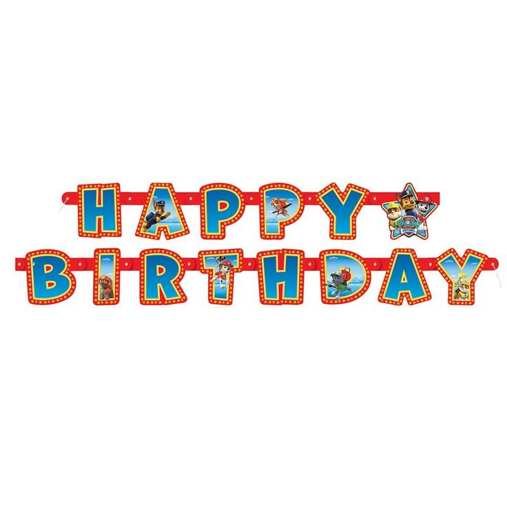 Amazon.com: 6ft PAW Patrol Birthday Banner: Toys & Games
