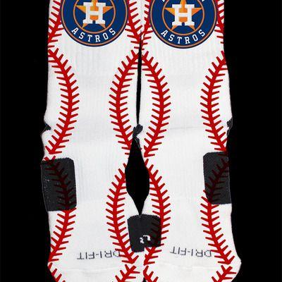 Houston astros inspired custom nike elite socks#astros #nomnomnom #yummy #comfortfood #mlb #houston #officialsports1001 #josealtuve #september102014 #houstonastros #hoodnite #allday #customnikeelites #socks #elites