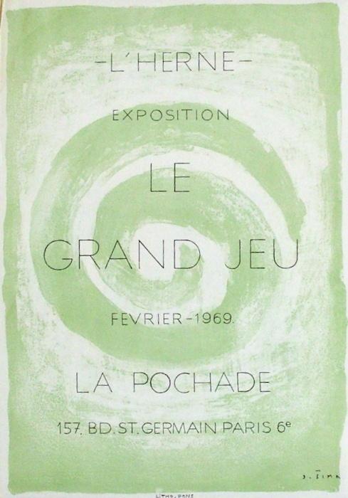 Expo Galerie La Pochade, Affiche originale, du peintre, Josef, SIMA, Signée dans la planche