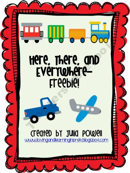 Math and Literacy Game- Transportation Themed Freebie! from Loving and Learning on