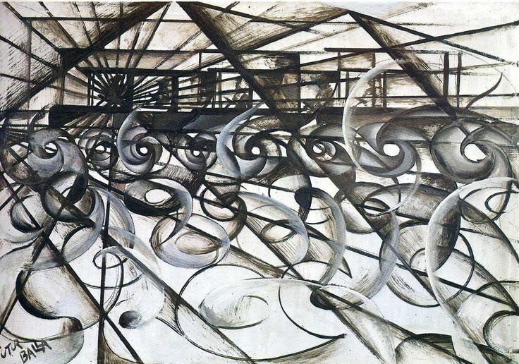 Giacomo Balla  velocity-of-an-automobile