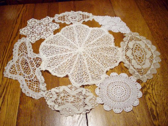 Vintage Doily Round Table Centerpiece Handstitched by NanNasThings, $72.00