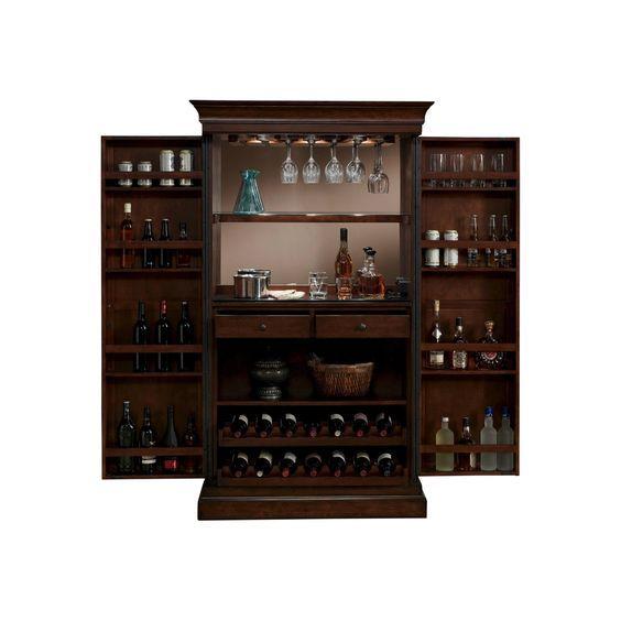 Best Angelina Wine Cabinet Wood Chestnut Brown American 400 x 300
