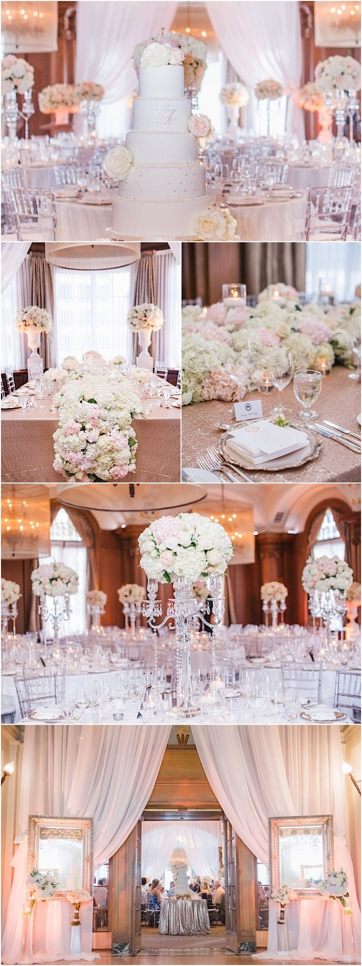 Glamorous wedding reception idea; Featured: Blush Wedding Photography http://ecameraeffects.com/sharper-images/