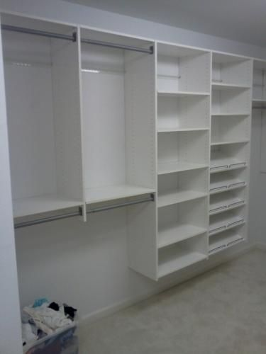 4 ft 8 ft classic white deluxe starter closet kit for Walk in wardrobe kits