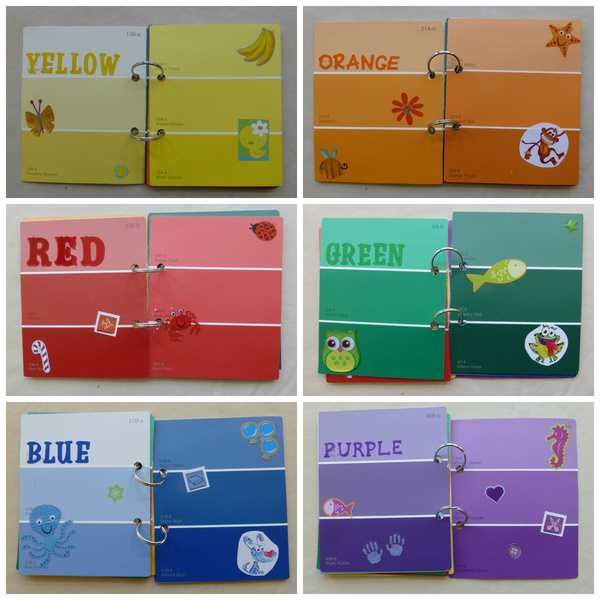 great way for toddler to learn about colors