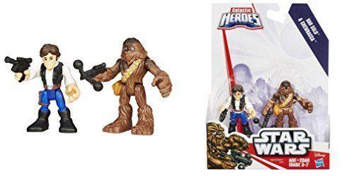 Playskool Star Wars Galactic Heroes Figures Han Solo and Chewbacca Xmas Gift #Playskool