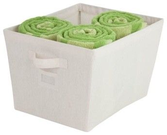 Tapered Bin, Canvas Contemporary Storage Bins And Boxes