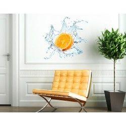 No.434 Fresh Orange wall decal, sticker in different sizes