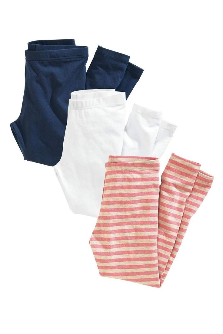 Girls Pants, Jeans, Shorts Online - 3 to 16 years - Next Leggings Three Pack - EziBuy Australia