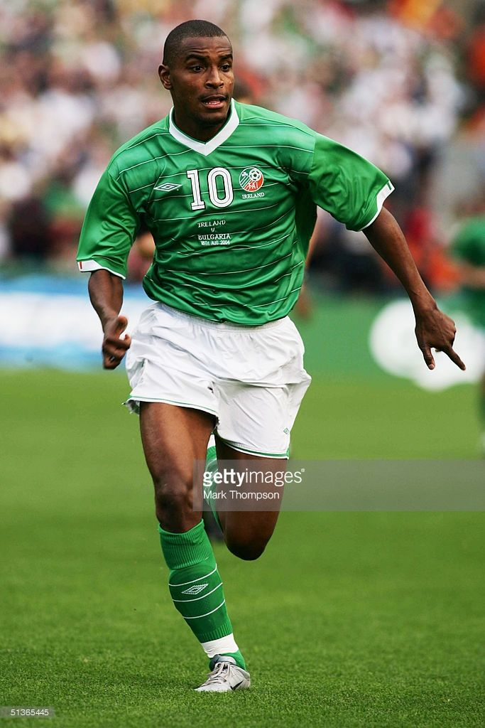 Clinton Morrison of Republic of Ireland during the International friendly match between Republic of Ireland and Bulgaria at Lansdowne Road on August 18, 2004 in Dublin, Ireland.