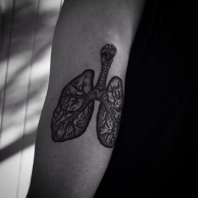 Image result for lungs tattoo
