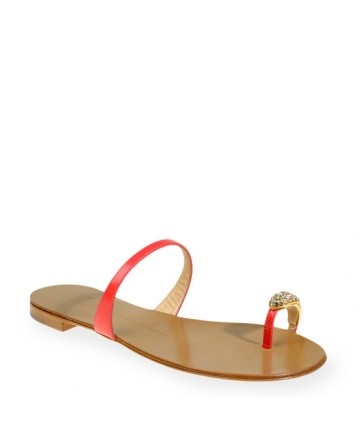 giuseppe-zanotti Flip Flops Shoes for Women strawberry pink Thong sandals in strawberry pink brushed calfskin with a dainty crystal-encrusted toe-ring. These iconic giuseppe-zanotti Design sandals are a must-have in any summer wardrobe.