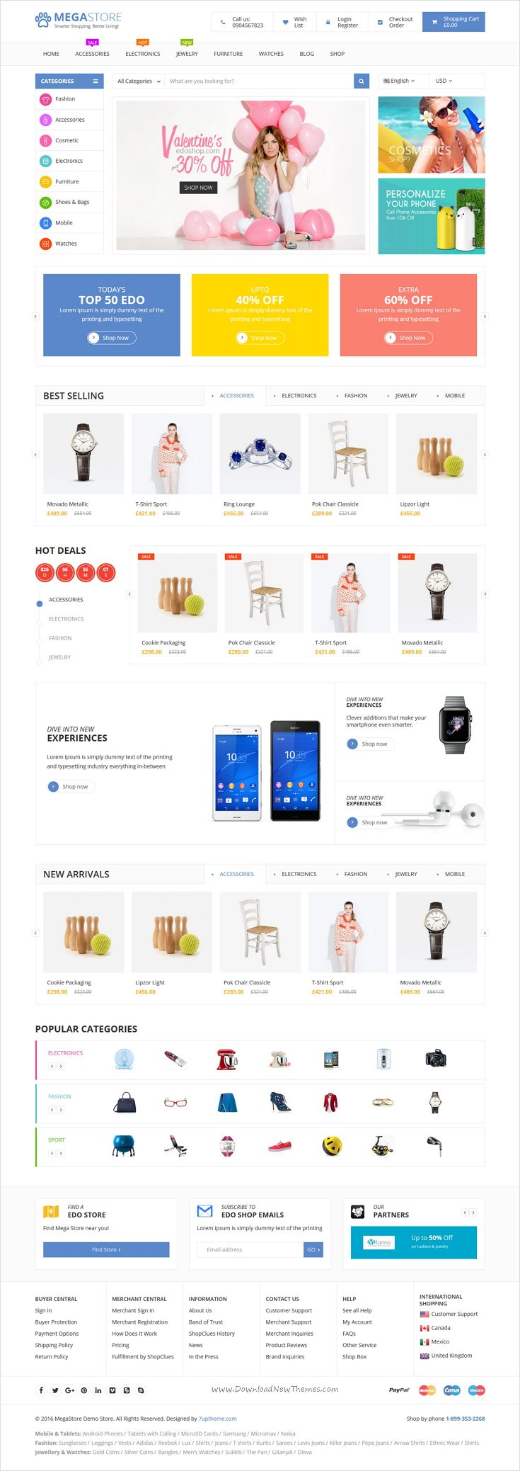 Mega store is beautifully design #WooCommerce @WordPress theme for multipurpose #eCommerce website with 6+ stunning homepage layouts download now➩ https://themeforest.net/item/mega-store-woocommerce-wordpress-theme/16846286?ref=Datasata