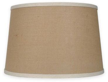 Mix & Match Large 15-Inch Burlap Lamp Shade in Natural/White