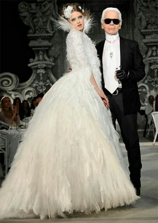 Karl Lagerfeld and his Chanel wedding collection