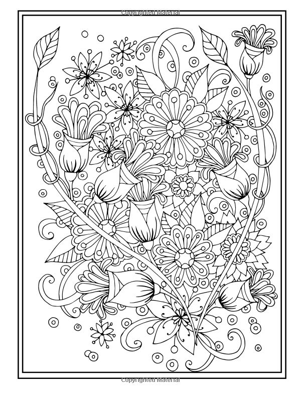 3007 best Coloring flowers images