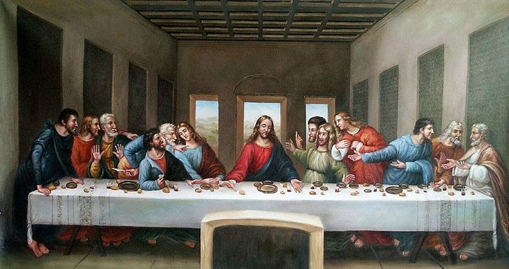 The Last Supper - Da Vinci 1448-1449 -One of the most famous paintings done on Fresco - Scene described in John 3:21 when Jesus tells 12 diciples that one will betray him -Windows in the background represent heaven