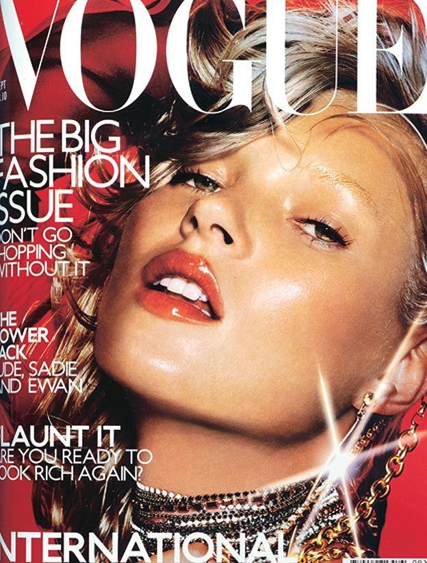 British Vogue September 2000. Model Kate Moss, photographer Nick Knight