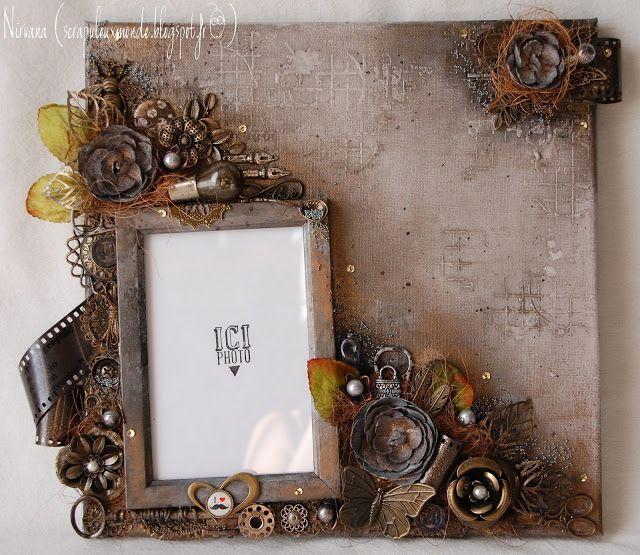 Mon Scrap'uleux Monde!: Canvas gris/taupe!