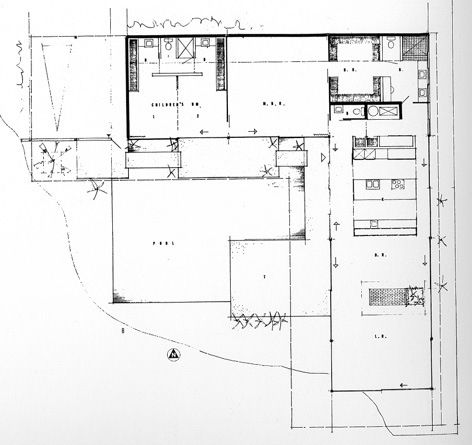 Case Study House No     Entenza House  Pacific Palisades CA