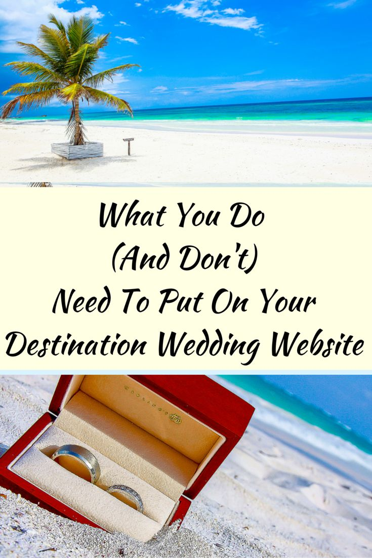 Dear Bride & Groom: Get organized for your destination wedding by making your own website! Here's what you need to know--- (Wedding Photography by Fun In The Sun Weddings) http://www.funinthesunweddings.com/advice-blog/what-you-do-and-dont-need-to-put-on-a-destination-wedding-website