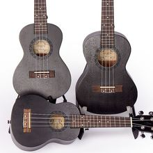 Soprano Concert Tenor Ukulele 21 23 26 inch Black Hawaiian Mini Guitar Guitarra Mahogany 4 Strings Ukelele Handcraft Wood Uke(China)
