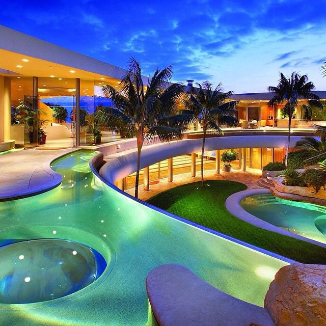 Luxury Pool House Night: 69 Best Luxury Places Images On Pinterest