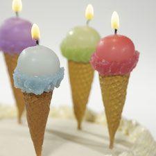 Ice Cream Cone Birthday Candles