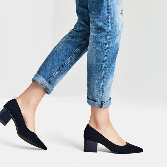 Image 1 of MEDIUM HEEL POINTED SHOES from Zara