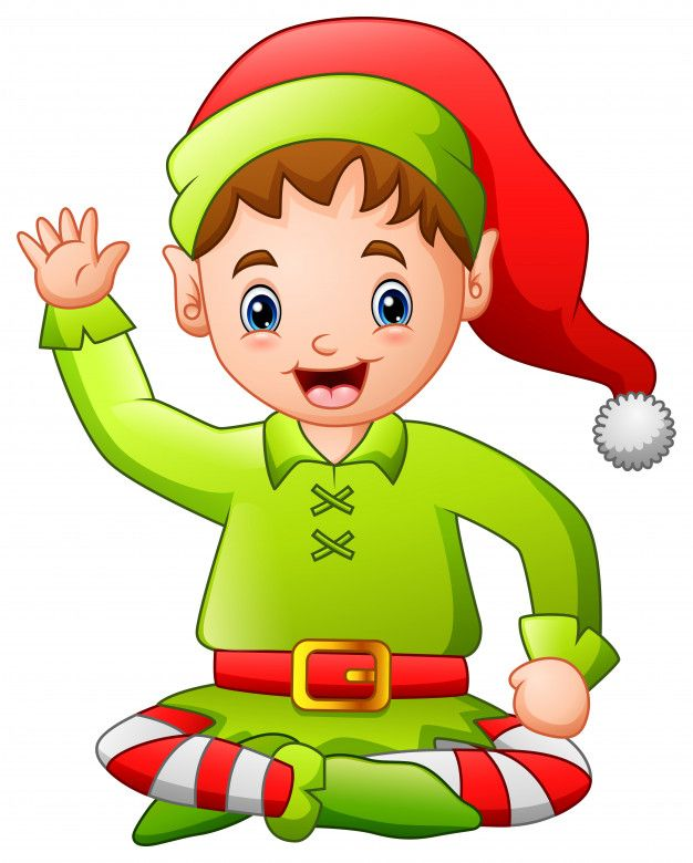 Dibujos Animados Feliz Duende De Navidad Sentado Vector Premium Freepik Freevector Fondo Navidad Invierno Per Xmas Tags Christmas Elf Christmas Images