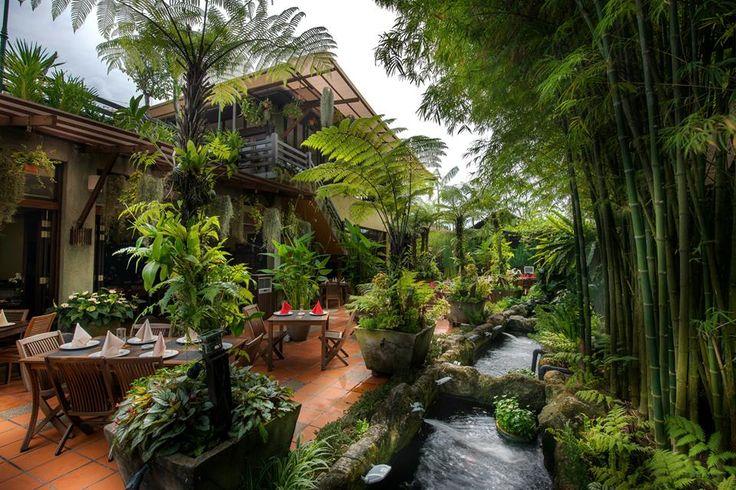 Dinner in a garden oasis A Garden Restaurant in Malaysia http