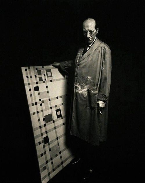 Piet Mondrian in his Studio.
